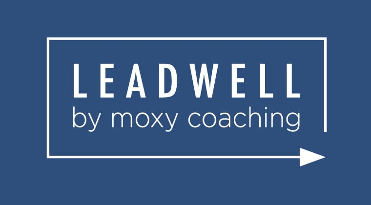 "Arrow creating box around ""LeadWell by Moxy Coaching"", a bundle of courses for leadership and management"